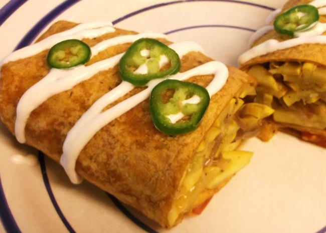Summer Squash Burritos