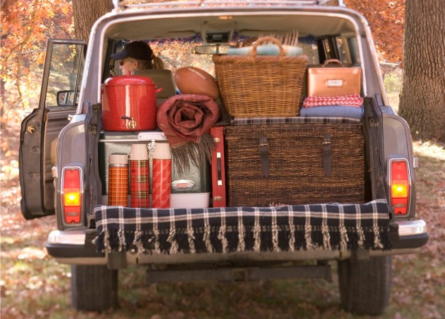 Picnic Stuff in the Back of the Truck