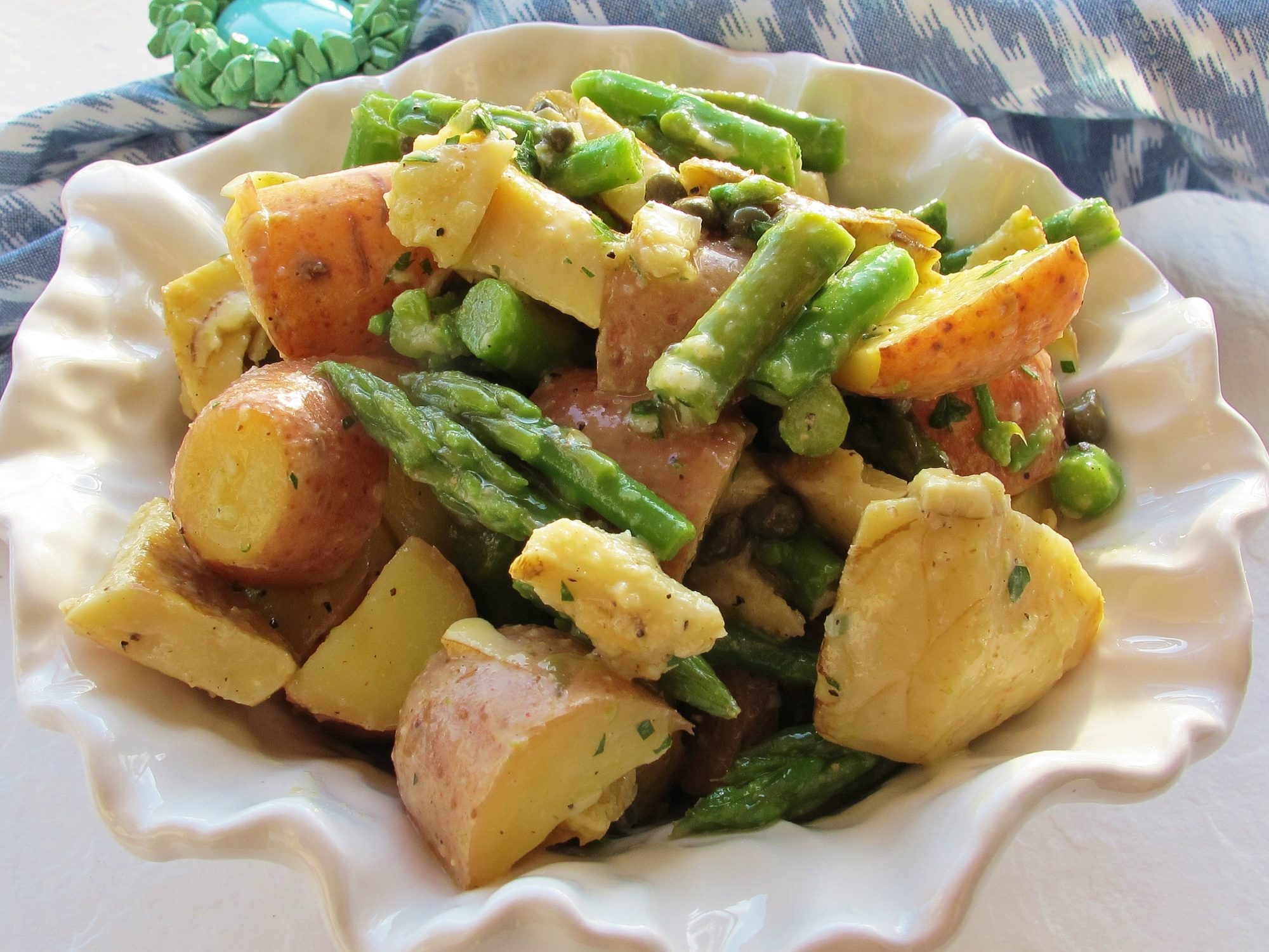 Red Potato, Asparagus, and Artichoke Salad