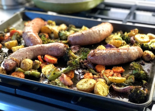 Sausage and Vegetable Sheet Pan Dinner