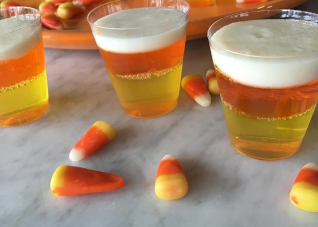 Halloween Candy Corn Jell-O(R) Shots