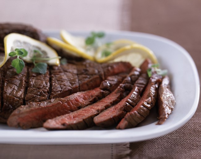 Simply marinated flank steak