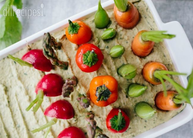 Spring Herb Hummus Vegetable Garden