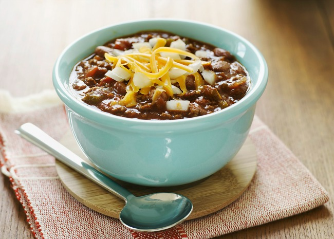 Tequila Chili in light blue bowl