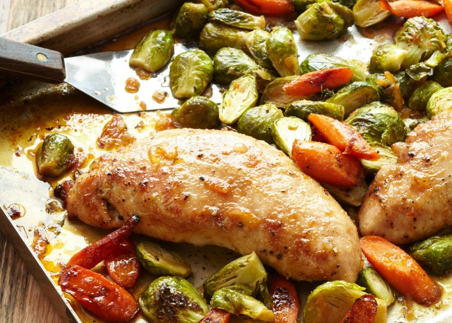Turkey with Brussels Sprouts and Carrots