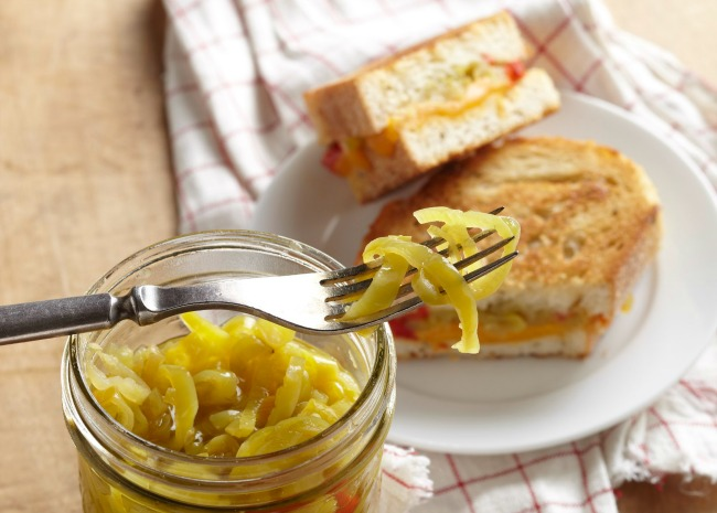 Grilled Cheese with Pickled Peppers