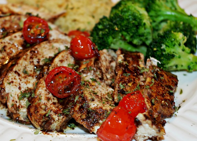 Roasted Balsamic Chicken with Baby Tomatoes