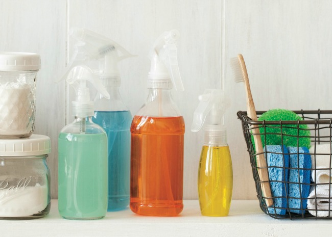 Hands-On Home Cleaning Bottles