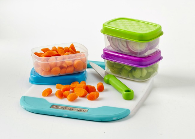 Prepped Vegetables in Containers