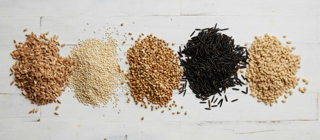 Quinoa, farro, buckwheat, wild rice, and barley. Photo by Meredith