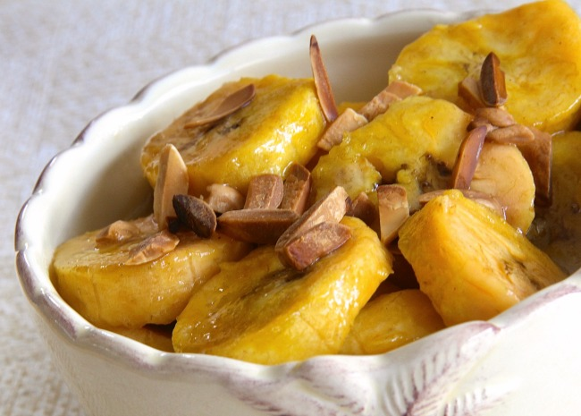 Plantains in Butter Rum Sauce
