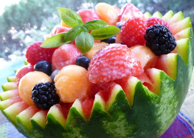 Strawberry Melon Summer Salad