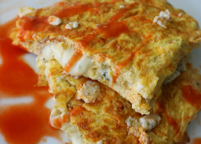 Buffalo Wings and Blue Cheese Omelet