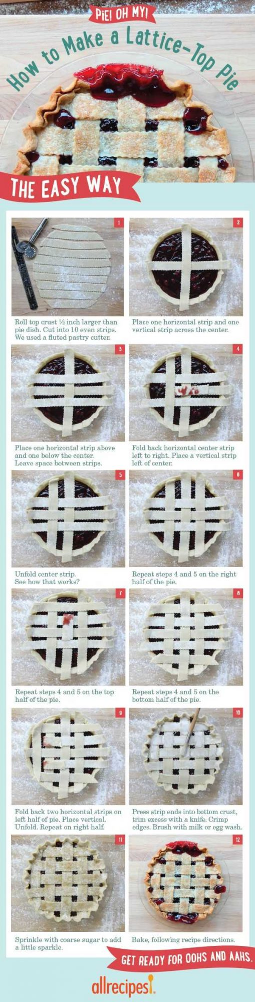 step-by-step guide to weaving a lattice top for pie