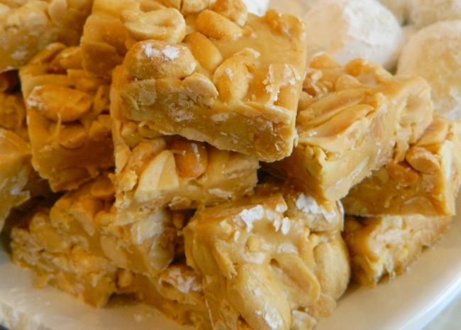 Salted Nut Roll Squares