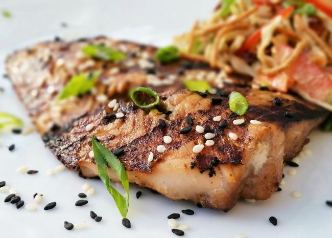 Seasame Grilled Salmon
