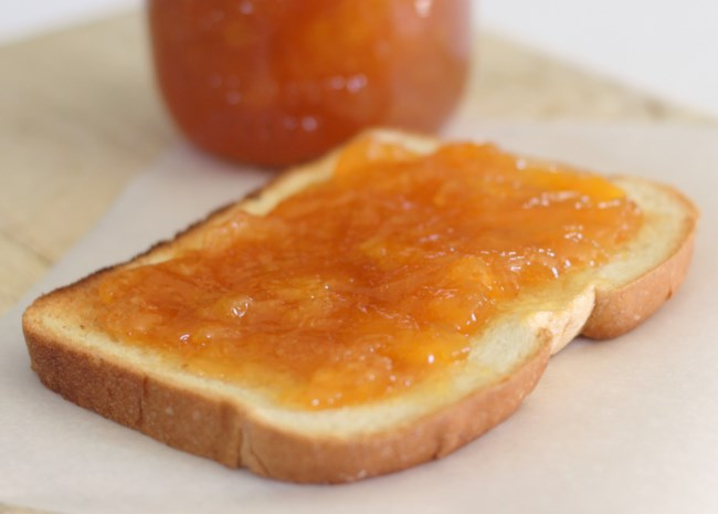 Spiked Peach Jam with Ginger