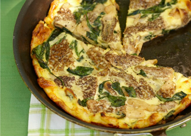 101568447 Frittata with Morels and Spinach Photo by Meredith