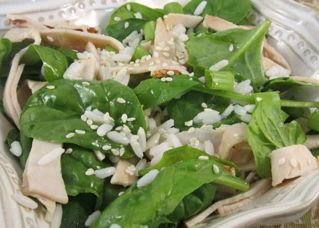 Turkey and Spinach Rice Bowl