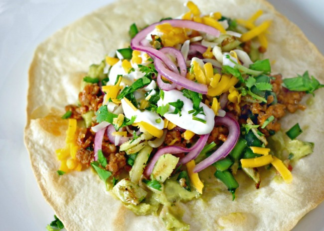 Crispy Ground Turkey Tostadas