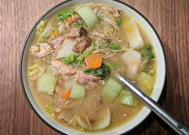 Chicken and Veggie Miso Soup