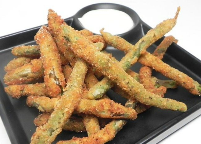 Deep fried green beans by Soup Loving Nicole
