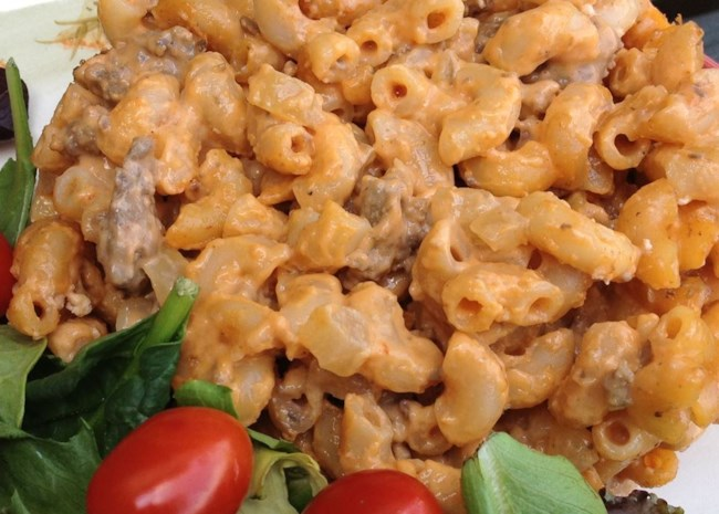 Cheese and Hamburger Macaroni   Photo by It's A New Day