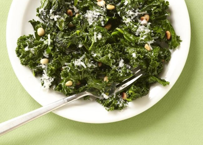 Kale with Pine Nuts and Shredded Parm