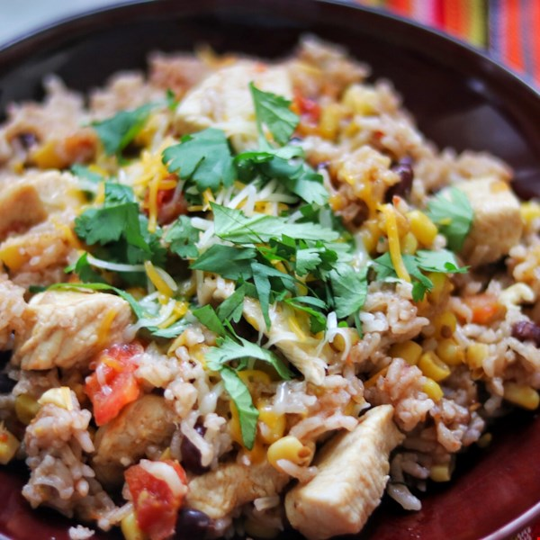 Instant Pot Mexican Chicken and Rice Bowls