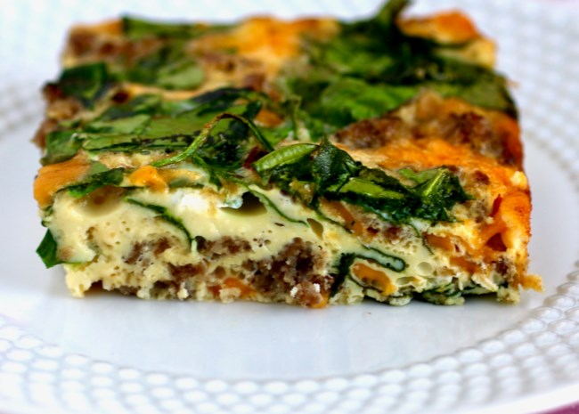 Spinach, Sausage, and Egg Casserole