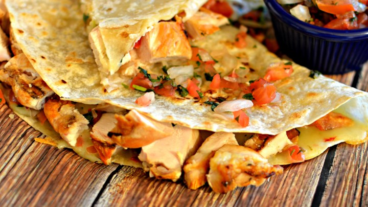 Cherry Wood-Smoked Chicken Breast Quesadillas with Pico de Gallo by bd.weld