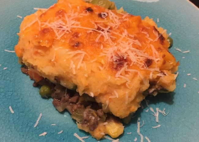 Instant Pot(R) Shepherd's Pie with Potatoes and Yams