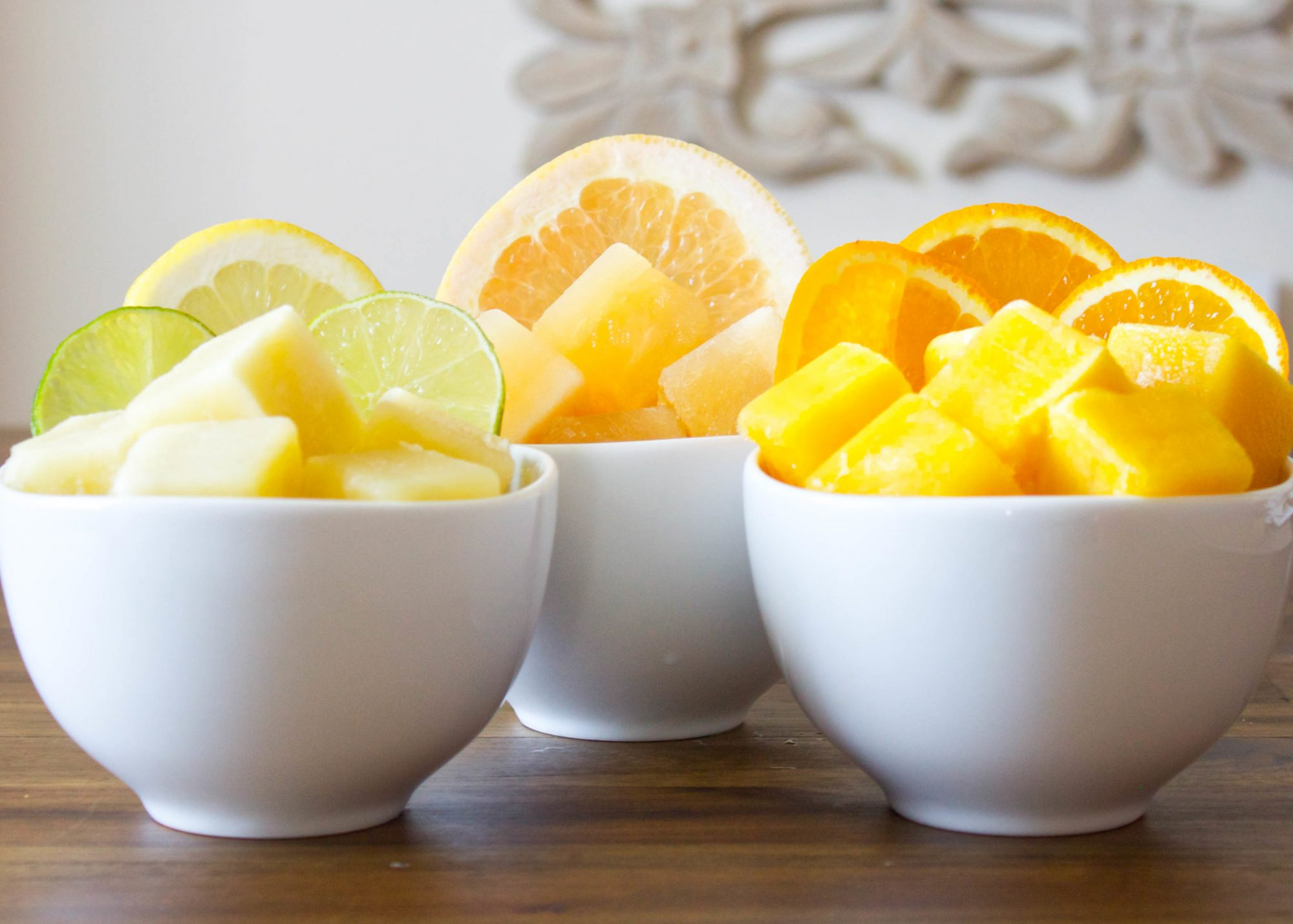 citrus ice cubes
