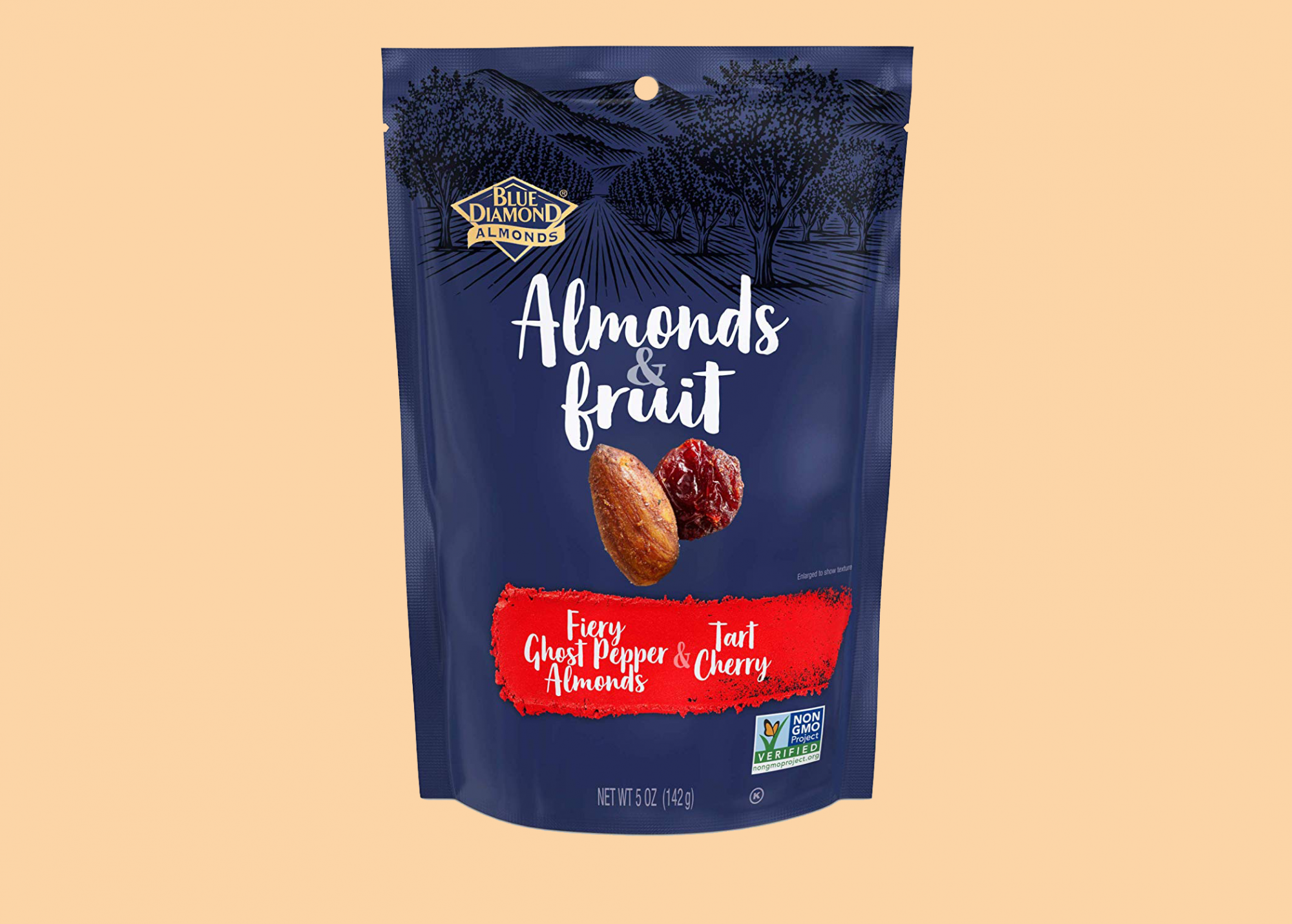 Blue Diamond Almonds & Fruit Bag, Ghost Pepper Almonds & Tart Cherry
