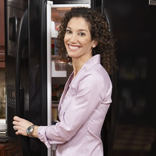 Woman by Fridge