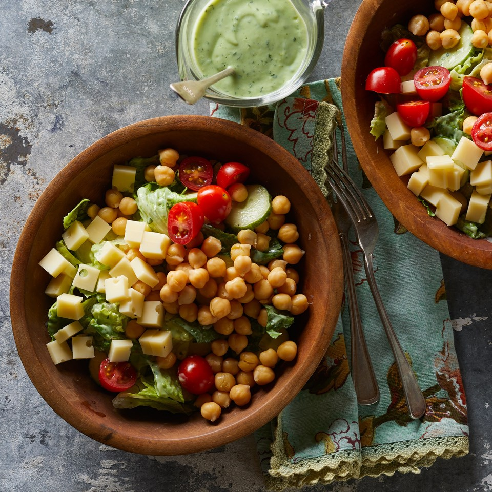 Green Goddess Salad with Chickpeas