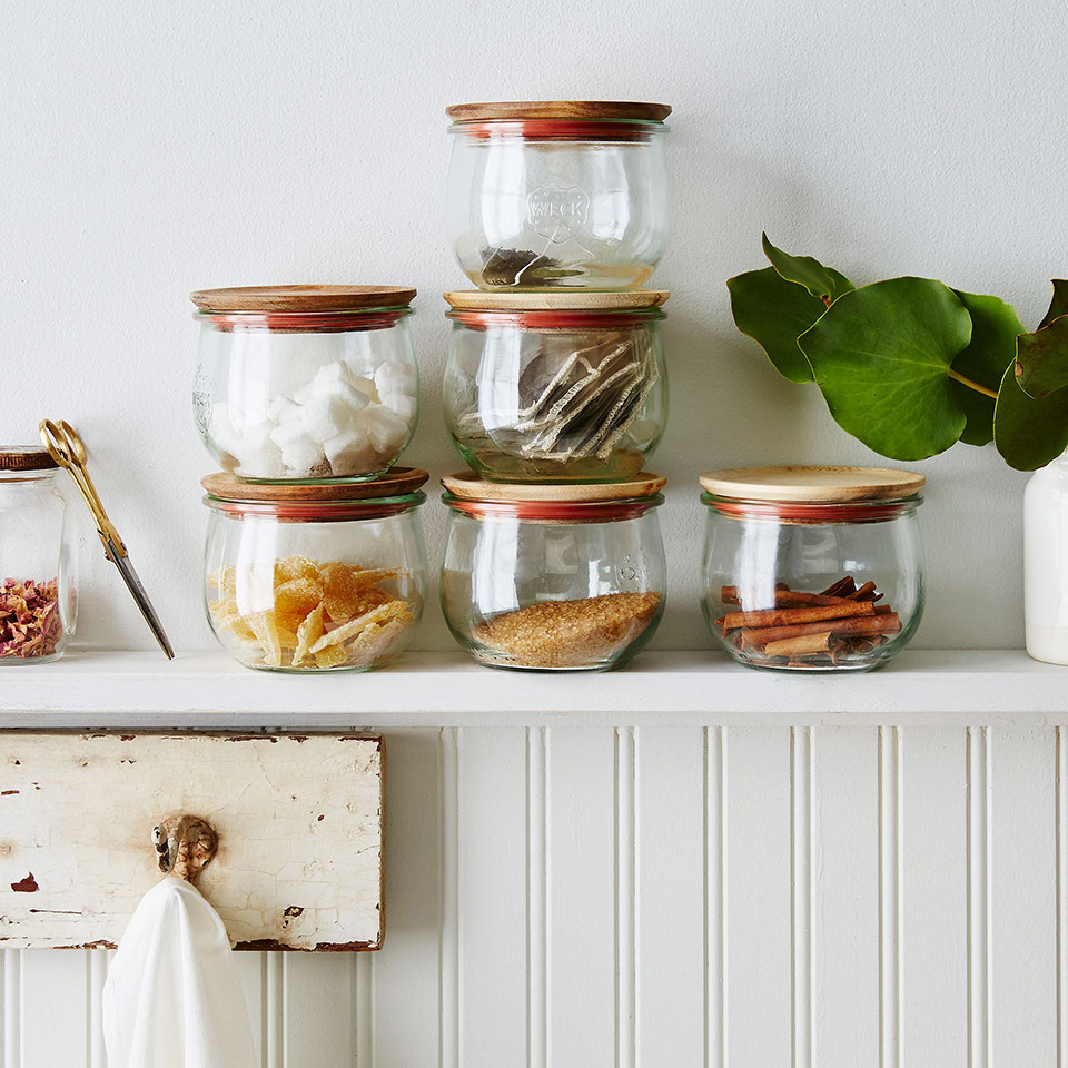 Weck Tulip shaped food storage jars