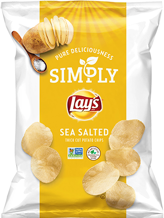 simply lays potato chips