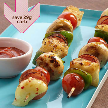 Choose Pizza Kabobs Over Sliced Pizza