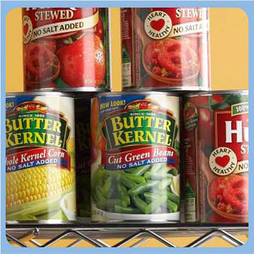 No-Salt-Added Canned Veggies