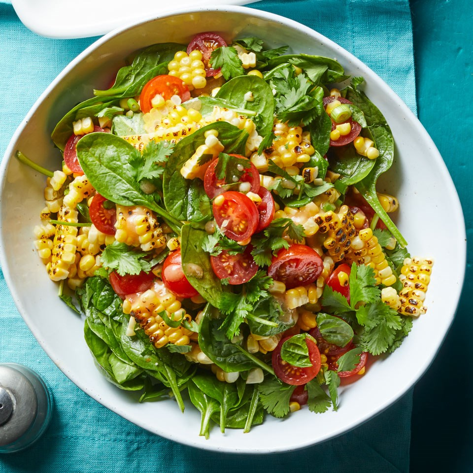 Grilled Corn Salad with Chili-Miso Dressing