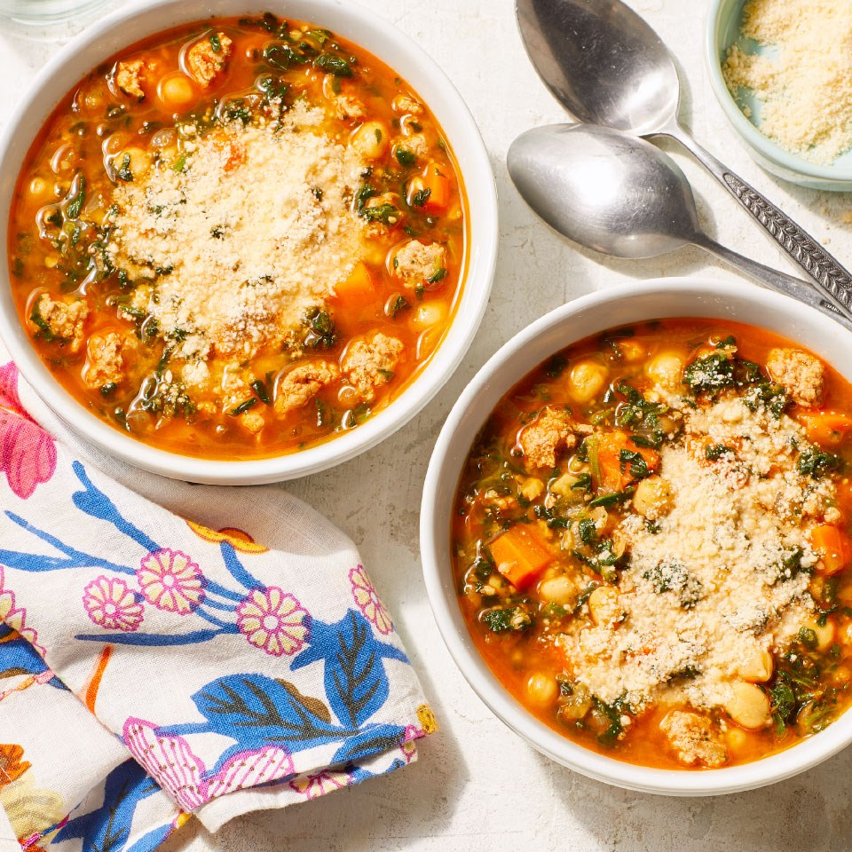 Hearty Chickpea & Spinach Stew
