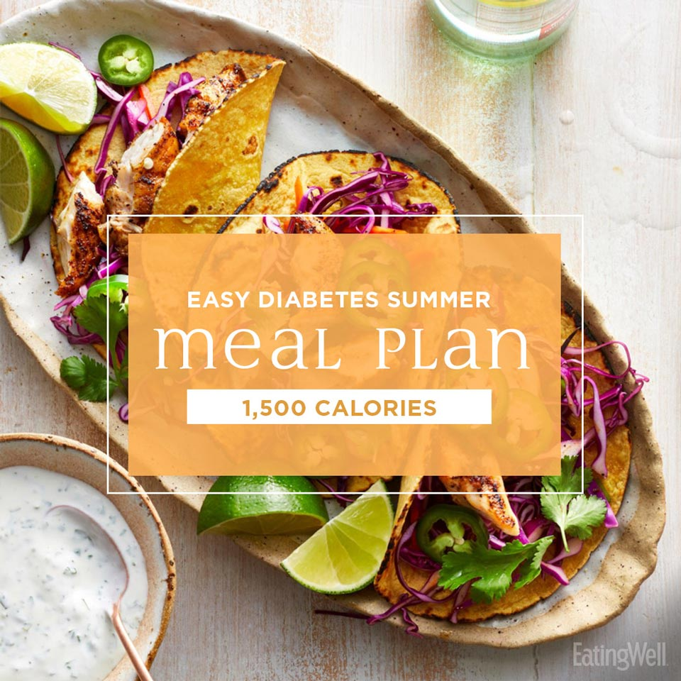 Easy Diabetes Meal Plan for Summer: 1,500 Calories