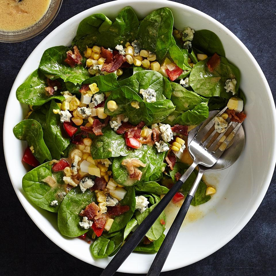 blue cheese and spinach salad