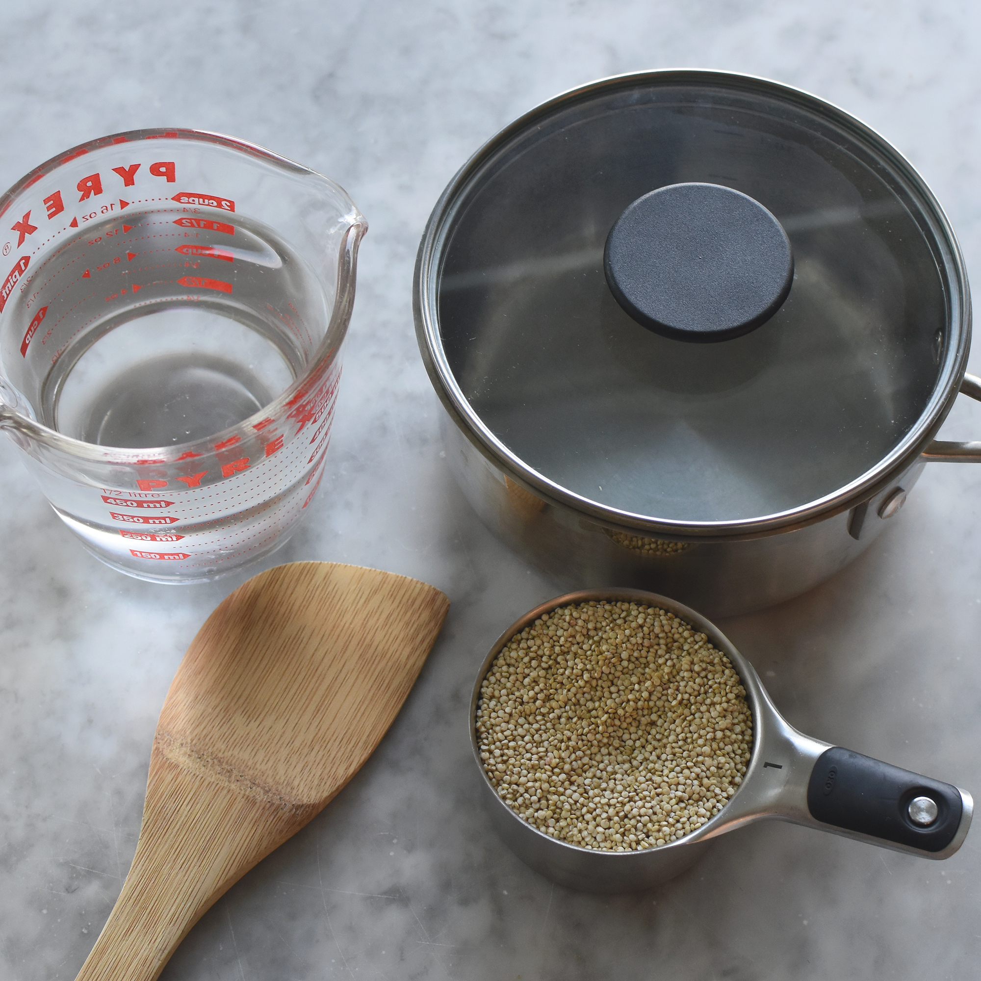 ingredients for cooking quinoa