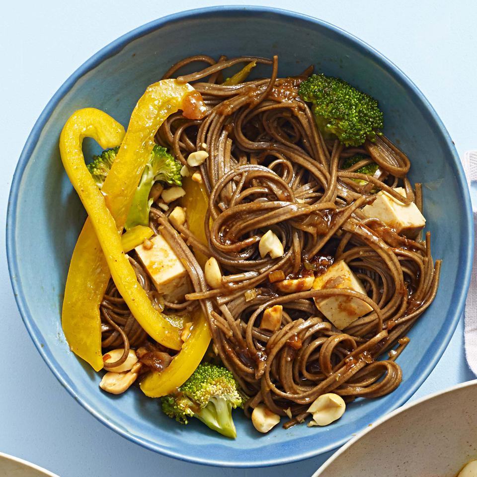 Sesame Noodles with Baked Tofu