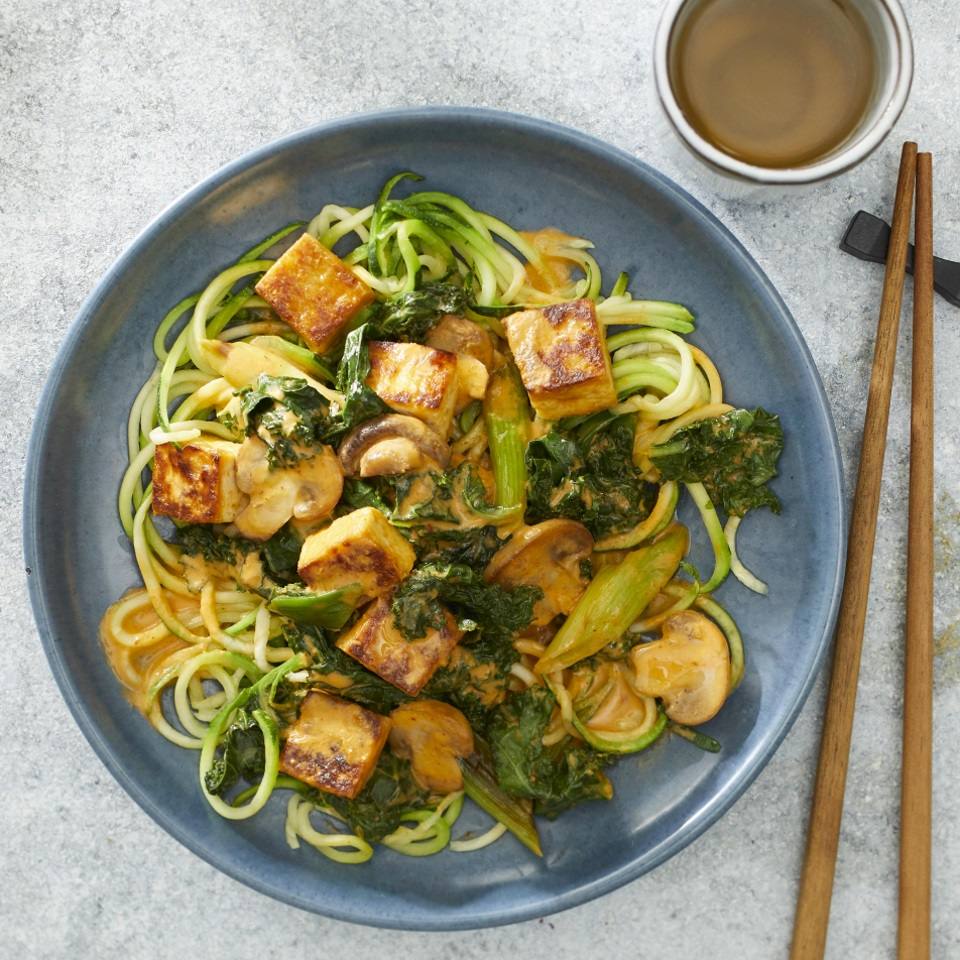 Thai Tofu & Vegetable Curry with Zucchini Noodles