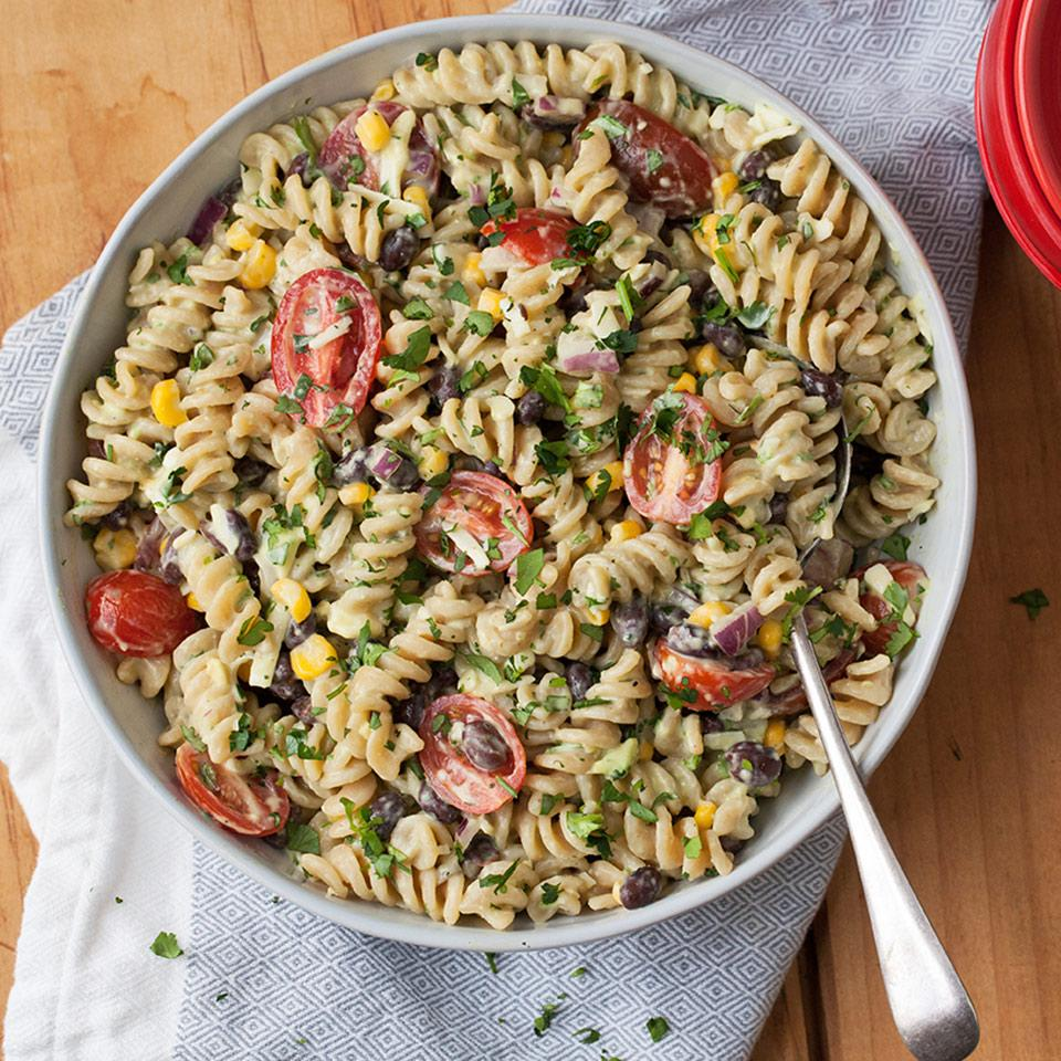 Mexican Pasta Salad with Creamy Avocado Dressing