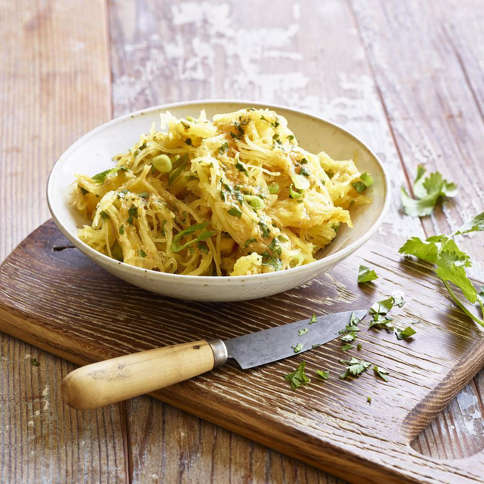 Spaghetti Squash with Ginger-Miso Dressing