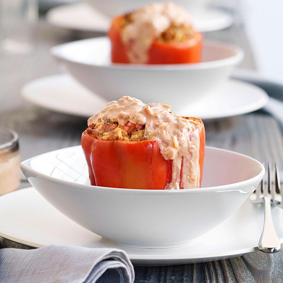 Paprika-Spiced Stuffed Peppers